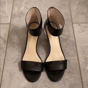 Kenneth Cole Black Wedge Sandals